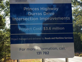 Durras Road nearly completed
