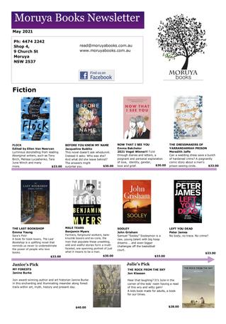 Moruya Books : May 2021
