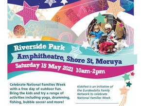 Kidsfest at Moruya Riverside Park Amphitheatre on Saturday 15 May