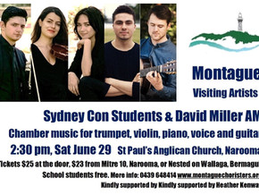 Sydney Conservatorium Students with David Miller AM - presented by MONTAGUE VISITING ARTISTS - June