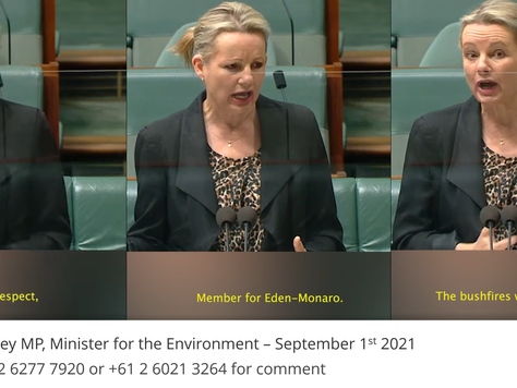 """Minister for the Environment Sussan Ley """"with great respect"""""""