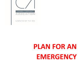 """Tomakin Community Association have developed their """" Plan for an Emergency"""""""