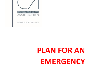 "Tomakin Community Association have developed their "" Plan for an Emergency"""