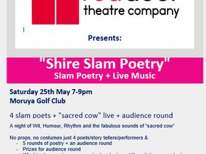 Shire Slam Poetry - May 25th in Moruya