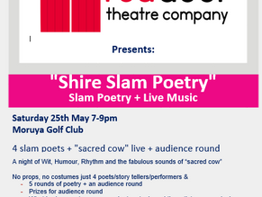 Shire Slam Poetry - May 25th in Moruya