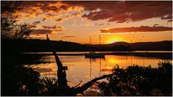 Sunset on Wagonga