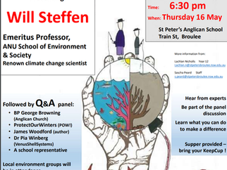 Climate Conundrum Evening – Thursday, 16 May 2019 at Broulee