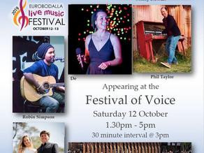 Eurobodalla Live Music Festival Oct 12th and 13th