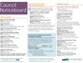 Council Noticeboard February 3rd 2021