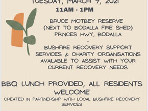 Recovery BBQ at Bodalla March 9th 2021