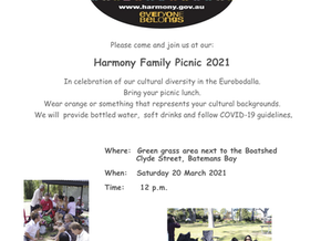 Harmony Family Picnic 2021 - March 20th