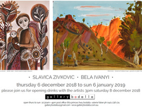 Bela Ivanyi and Slavica Zivkovic at Gallery Bodalla: Dec 6th to Jan 6th