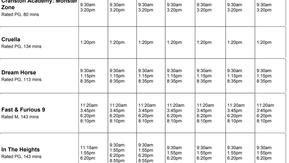 Perry Street Cinemas program June 24th to 30th