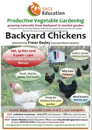 Backyard chicken workshop - Nov 19th