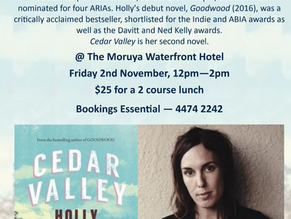 Moruya Books Literary Lunch : Holly Throsby Nov 2nd