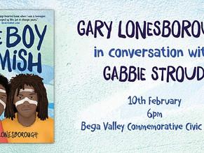 Gary Lonesborough in launching his new YA novel The Boy from the Mish