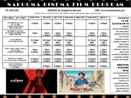 Narooma Kinema Program July 15th to 21st