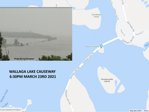 Wallaga Lake Causeway under water