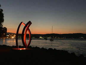 Sculpture For Clyde sculptures settle into their new locations
