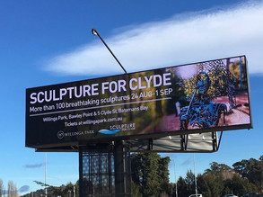 Sculpture For Clyde Up in Lights