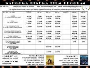 Narooma Kinema program May 23rd to 29th