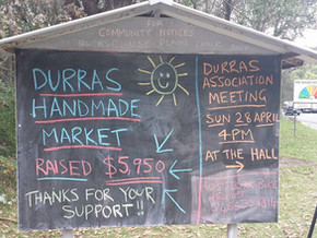 $5950 raised from Durras markets
