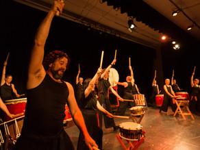 Taiko drumming concert in Moruya