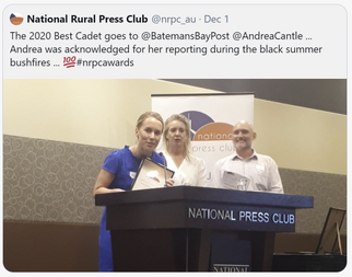Andrea Cantle: National Rural Press Club 2020 Best Cadet