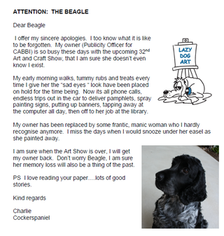 To the Beagle from Charlie