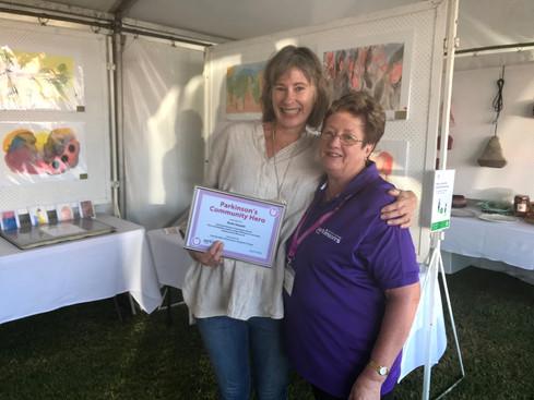 Artist Ruth Hassall named as Eurobodalla Parkinson's Community Hero