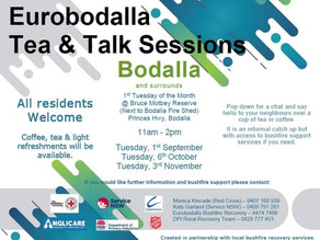 Bodalla Community tea & talk sessions