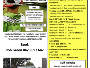 Junior Golf Clinic at Tuross Head