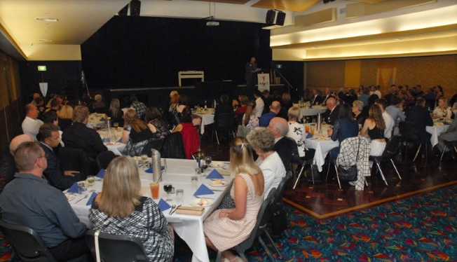 A very well attended awards night