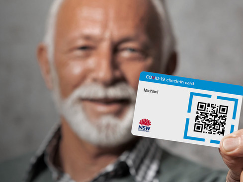 COVID-19 check-in card  now available