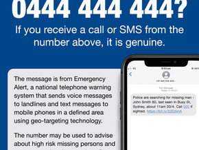 A txt from 0444 444 444 is NOT SPAM: It is the Police