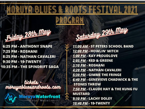Moruya Blues and Roots Festival May 28th and 29th