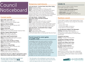Council Noticeboard 20th January 2021