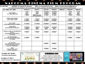 Narooma Kinema program Jun 20th to 26th