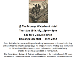 Moruya Books: Literary Lunch with Peter C. Smith July 18th