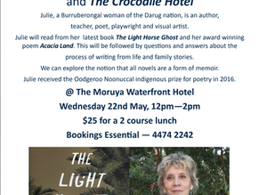 Moruya Books Literary Lunch with Julie Janson May 22nd