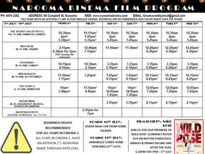 Narooma Kinema program July 4th to 10th