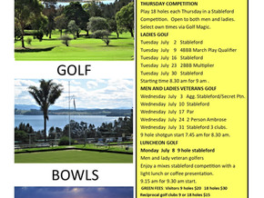 THCC July golf calendar