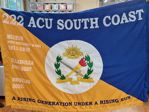 222 Army Cadet Unit now has an ANZAC Day style banner