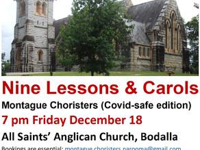 Nine Lessons and Carols on Friday Dec 18