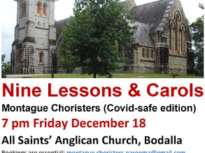 Nine Lessons and Carols on Friday Dec 18