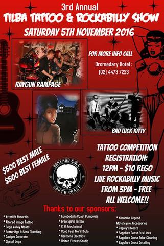 Tilba Tattoo & Rockabilly Show - Nov 5th