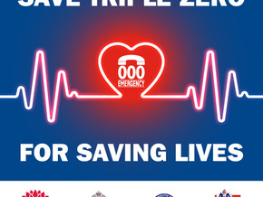 SAVE TRIPLE ZERO FOR SAVING LIVES