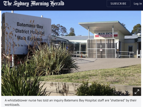 Call for Government to take urgent action to fix the systemic healthcare crisis in regional NSW