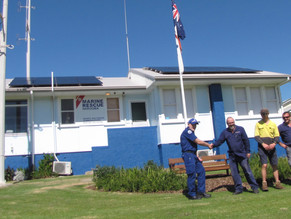Boat users safety enhanced by install of solar and batteries at Narooma Marine Rescue