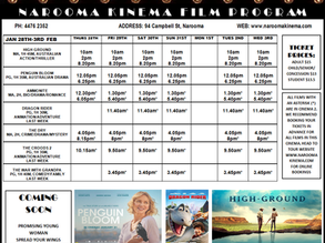 Narooma Kinema program